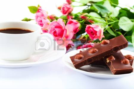 23158153-flowers-coffee-and-sweets-closeup