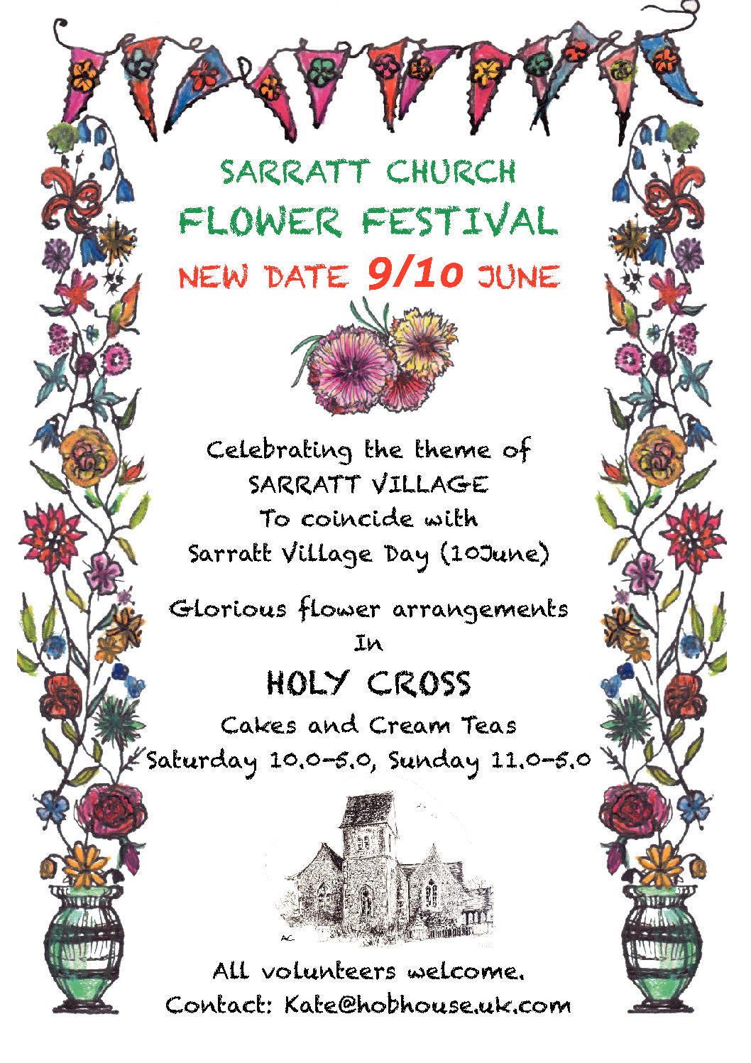 Holy Cross Flower Festival… New Date.