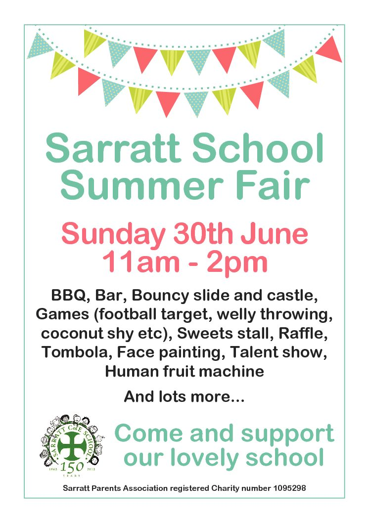 Support our Sarratt School this Sunday then take the Bus to Church….